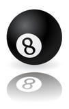 Bola del negro ocho Fotografía de archivo
