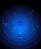 Bola del ojo y fondo del azul del rostro humano Imagenes de archivo