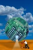 Bola del ordenador de la nube Fotografía de archivo libre de regalías