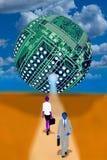 Bola del ordenador de la nube Foto de archivo libre de regalías