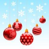 Bola del ornamento de la Navidad Fotos de archivo