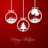 Bola del ornamento de la Navidad stock de ilustración