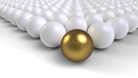 Bola del oro Foto de archivo libre de regalías