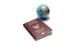 Bola del pasaporte y de la tierra Foto de archivo