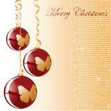Bola del rojo de la Navidad Fotos de archivo