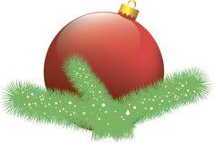 Bola del rojo de la Navidad Foto de archivo libre de regalías