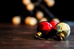Bola del ` s del Año Nuevo Juguete del árbol de navidad Imagen de archivo