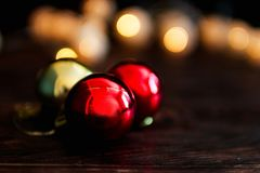Bola del ` s del Año Nuevo Juguete del árbol de navidad Fotos de archivo libres de regalías