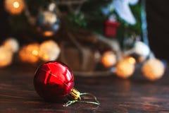 Bola del ` s del Año Nuevo Juguete del árbol de navidad Fotografía de archivo libre de regalías