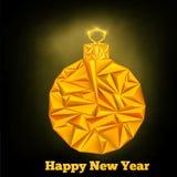 Bola del triángulo de la Navidad del Año Nuevo Fotos de archivo
