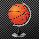 Bola del vector Un baloncesto moderno limpio del concepto creativo le gusta un ejemplo del globo del vector Deportes que hacen pu Foto de archivo