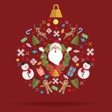 Bola do ícone da decoração do Natal Foto de Stock