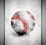 Aguarela da bola do basebol ilustração stock