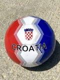 Bola 2018 do futebol da Croácia fotografia de stock