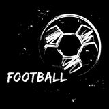 Bola do futebol no estilo do grunge Imagens de Stock Royalty Free