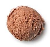 Bola do gelado de chocolate imagens de stock royalty free