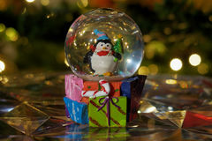 Bola do globo da neve do Natal Fotografia de Stock Royalty Free