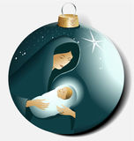 Bola do Natal com Maria e Jesus Imagem de Stock