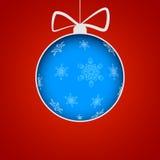 Bola do Natal cortada do papel ilustração do vetor