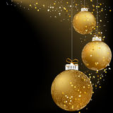 Bola do Natal feita dos flocos de neve. + EPS8 Fotos de Stock