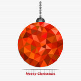 Bola do Natal feita dos triângulos Fotos de Stock Royalty Free