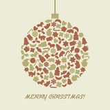 Bola do Natal no estilo retro Fotografia de Stock Royalty Free