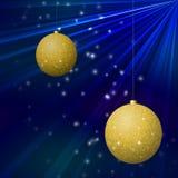 Bola do Natal para o cartão de Natal Imagem de Stock