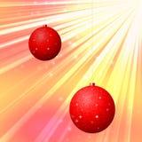 Bola do Natal para o cartão de Natal Ilustração Royalty Free