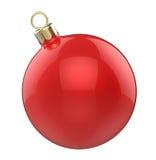 Bola do vermelho do brinquedo do Natal da Natal-árvore do ano novo Fotografia de Stock Royalty Free