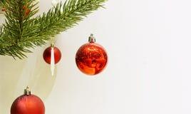 Bola do vermelho do Natal Fotografia de Stock