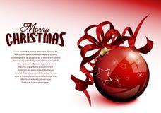Bola do vermelho do Natal ilustração royalty free