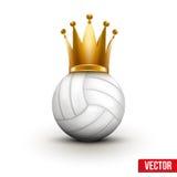 Bola do voleibol com a coroa real da rainha Imagens de Stock