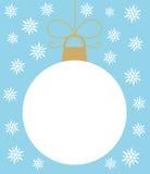 Bola do White Christmas Imagens de Stock