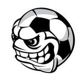 Bola dos desenhos animados do futebol Imagens de Stock Royalty Free