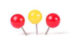 Bola dos pinos de desenho em cores diferentes Imagem de Stock Royalty Free