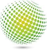 Bola e bola da terra, logotipo e ícone da tecnologia, bola da terra e logotipo do globo ilustração do vetor