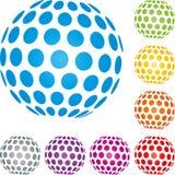 Bola e bola da terra, logotipo e ícone da tecnologia, bola da terra e logotipo do globo ilustração stock