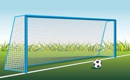 Bola e porta de futebol ilustração do vetor