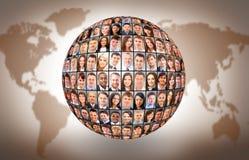 Bola e povos Fotografia de Stock Royalty Free