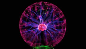 Bola e relâmpago do plasma ilustração stock