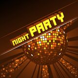 Bola efervescente do disco Partido da noite ilustração royalty free