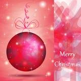 Bola elegante de la Navidad con las cortinas rosadas Imagen de archivo libre de regalías
