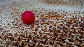 Bola em um aço oxidado Imagem de Stock Royalty Free