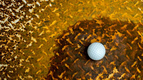 Bola em um aço oxidado Imagens de Stock