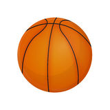 Bola em um fundo branco, vetor do basquetebol Fotos de Stock Royalty Free