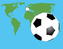 Bola en el mapa Imagen de archivo