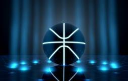 Bola en la etapa de Spotlit Imagen de archivo libre de regalías