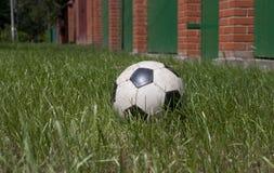 Bola en la hierba Imágenes de archivo libres de regalías