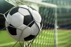 A bola está na rede do objetivo Objetivo! Fotos de Stock