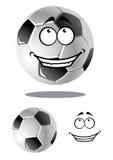 Bola feliz do futebol ou do futebol dos desenhos animados Fotos de Stock Royalty Free